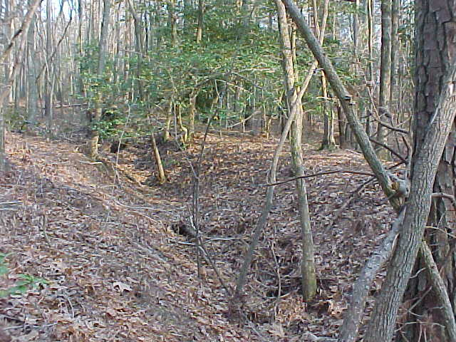 Additional Confederate earthworks