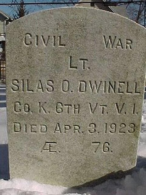Silas Dwinell's gravestone