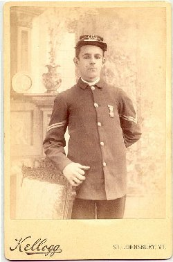 Young man in Sons of Union Veterans Uniform