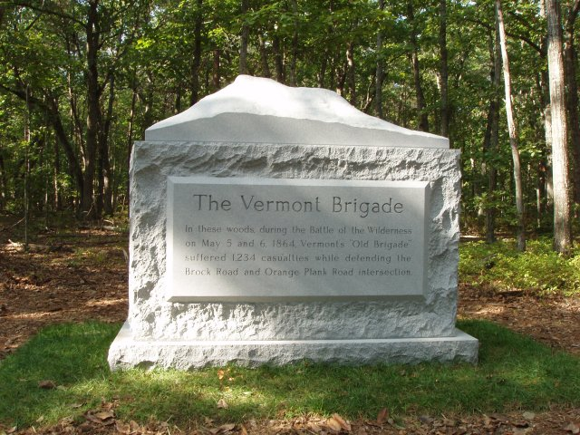 Vermont Brigade Monument at the Wilderness