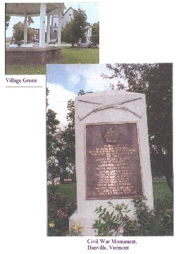 Village Green and Monument, Danville,