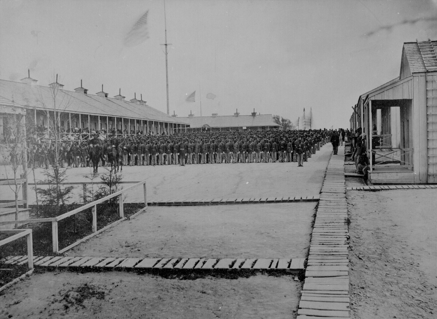 26th USC in formation at Camp William Penn